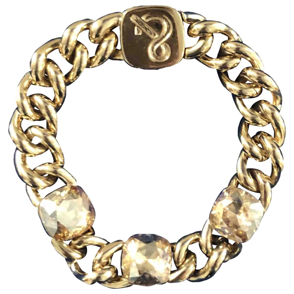 - Bracelet Gourmette pour femme en cristal - dore