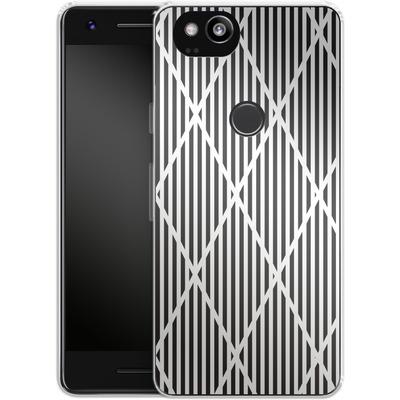 Google Pixel 2 Silikon Handyhuelle - Black Diamonds von caseable Designs