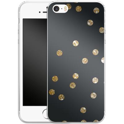 Apple iPhone 5 Silikon Handyhuelle - Gold Dots von Khristian Howell