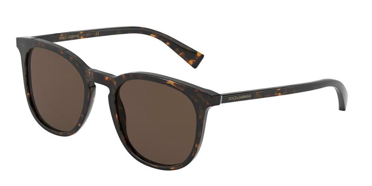 Dolce & Gabbana DG4372F Asian Fit 502/73 Men's Sunglasses Tortoise Size 51
