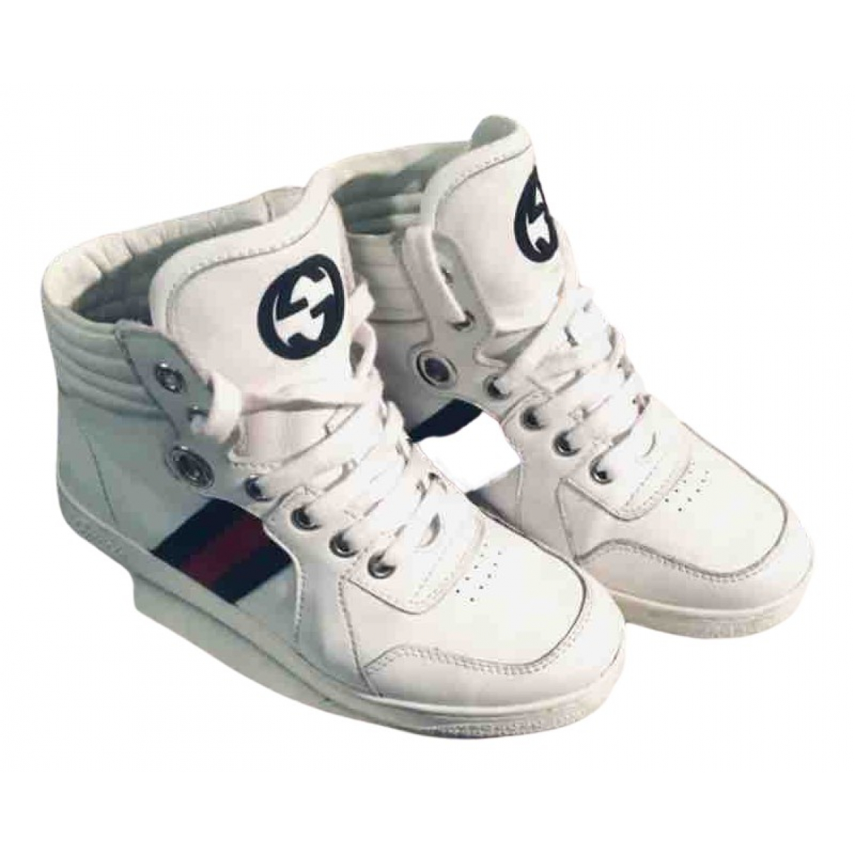 Gucci N White Leather Trainers for Kids 31 FR