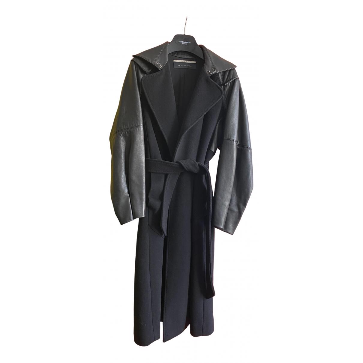 Roland Mouret \N Black Leather coat for Women 36 FR