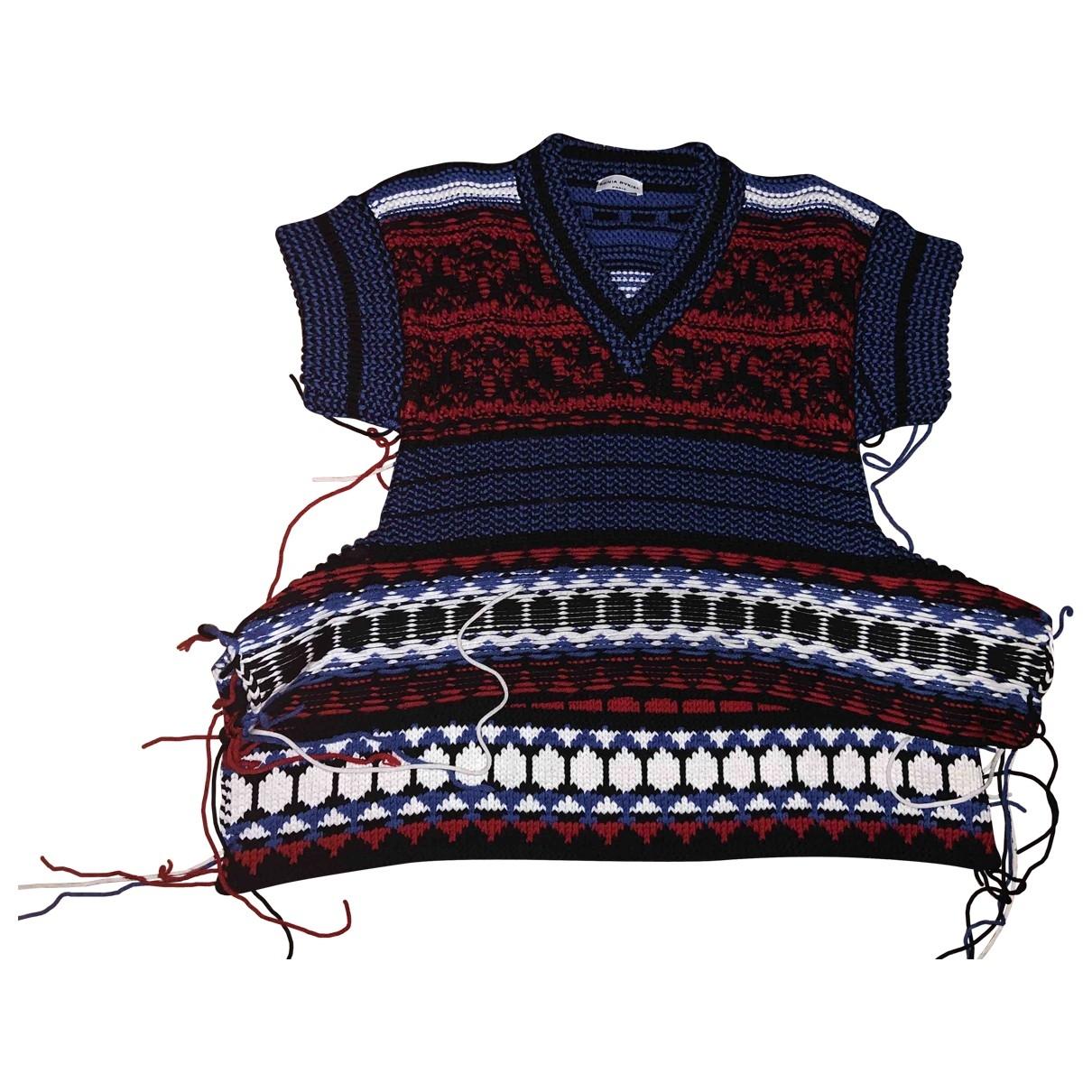 Sonia Rykiel - Pull   pour femme en laine - bleu