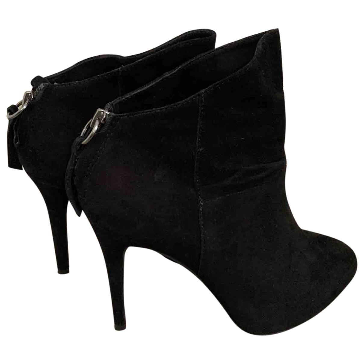 Ash - Boots   pour femme en suede - noir