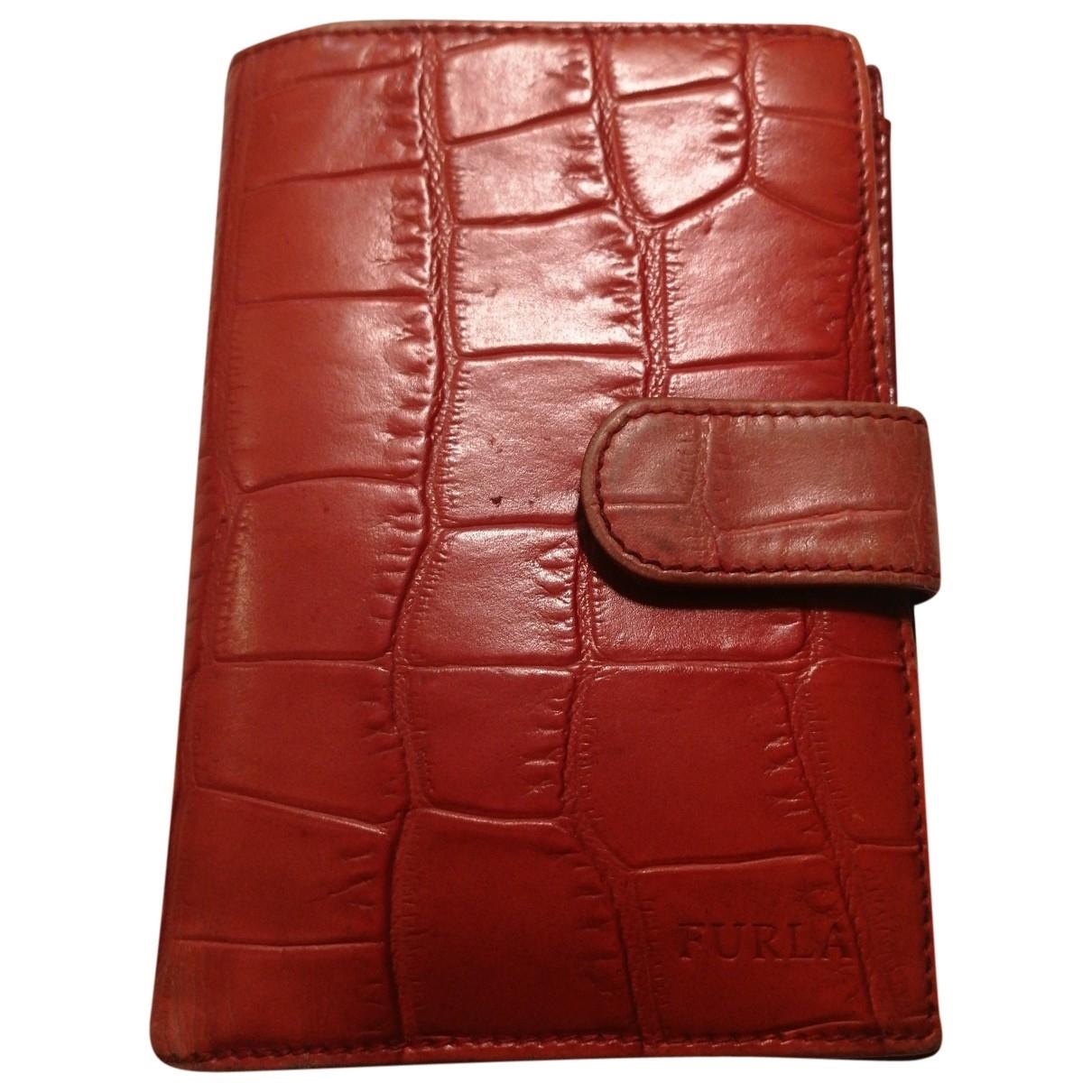 Furla - Portefeuille   pour femme en cuir - rouge