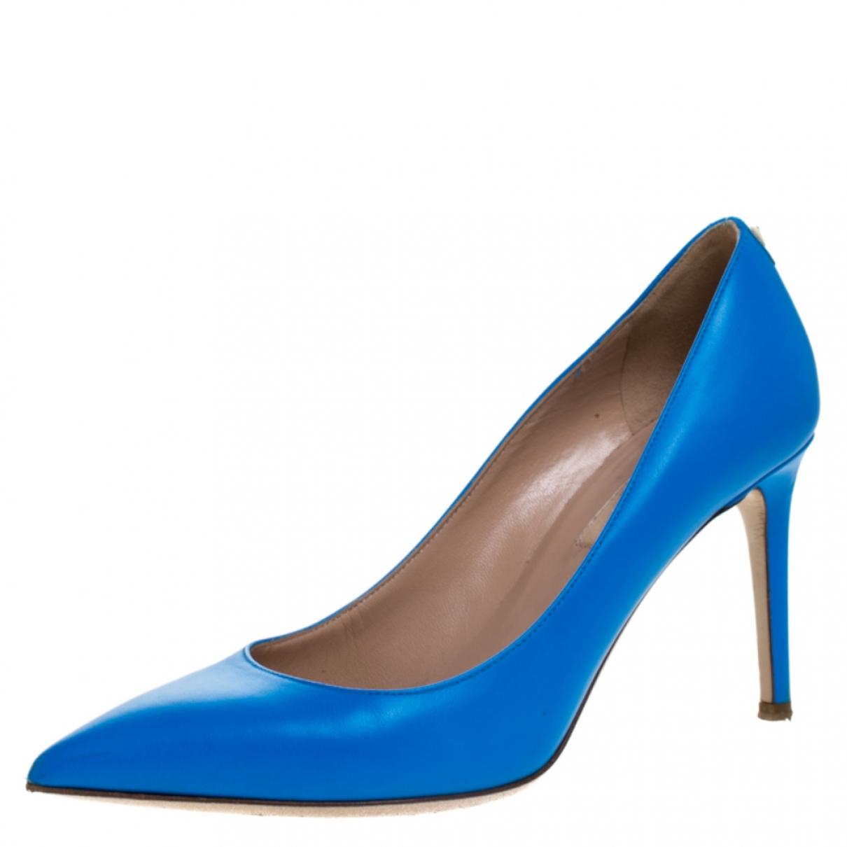 Autre Marque \N Sandalen in  Blau Leder