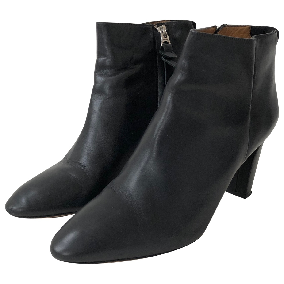Acne Studios \N Black Leather Ankle boots for Women 41 EU
