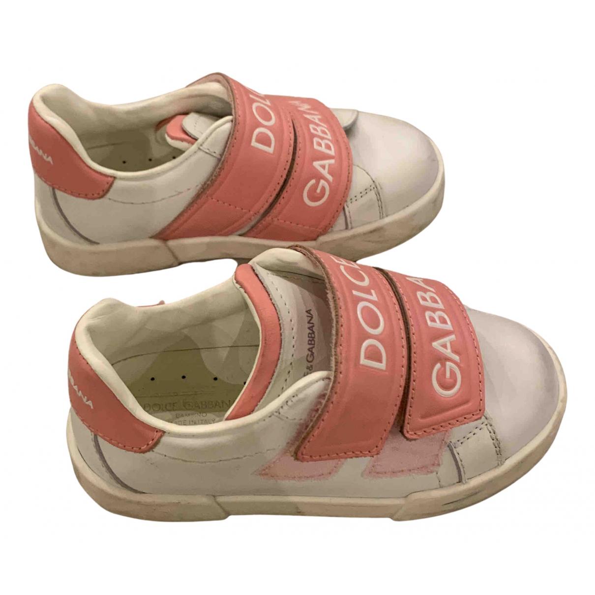 Dolce & Gabbana - Baskets   pour enfant en cuir - rose