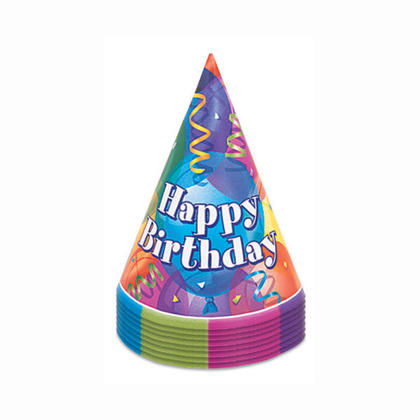 Brilliant Birthday Party Hats, 8ct For Birthday Party
