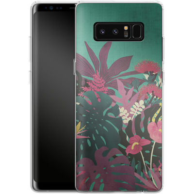 Samsung Galaxy Note 8 Silikon Handyhuelle - Tropical Tendencies von Little Clyde