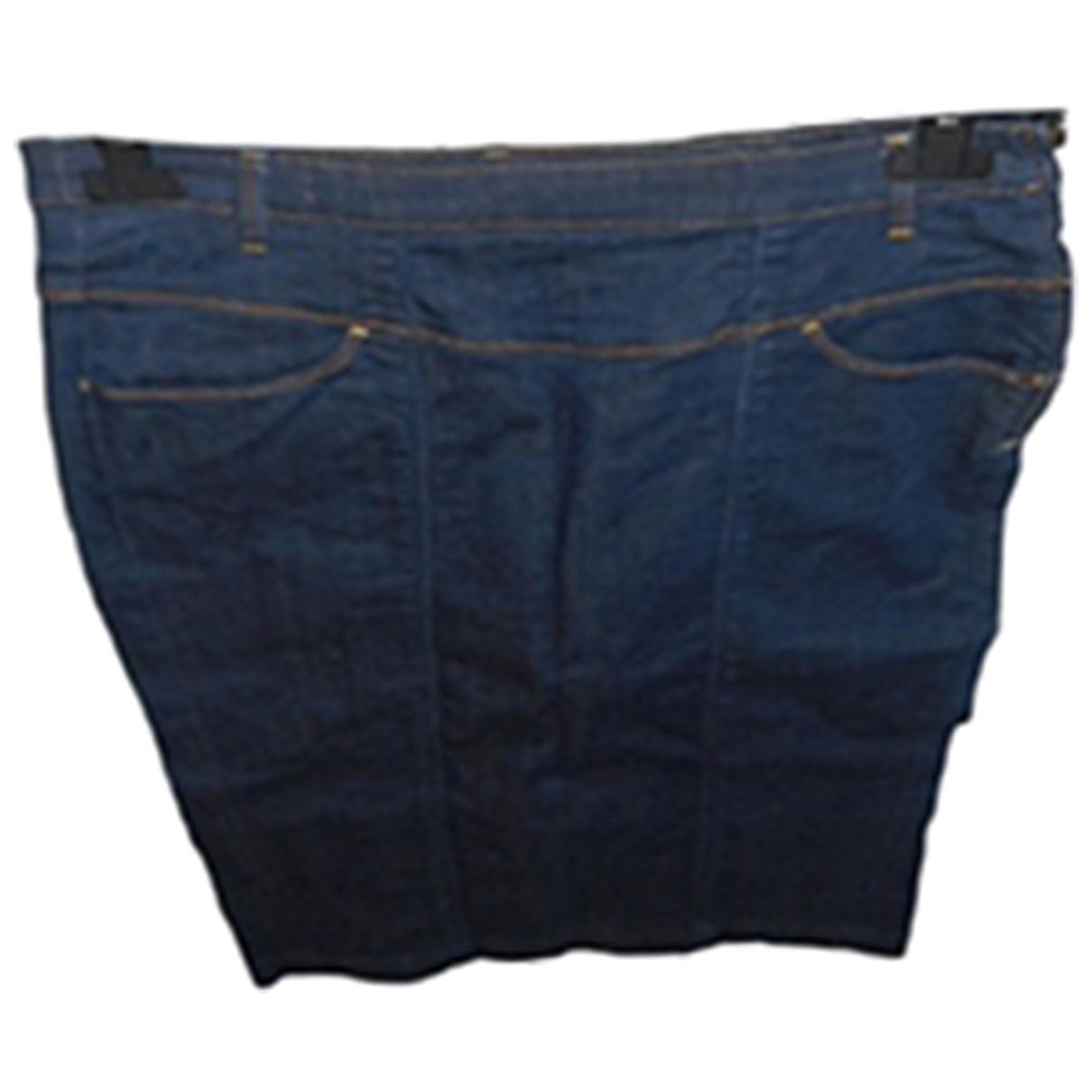 Guess \N Navy Denim - Jeans skirt for Women 40 FR