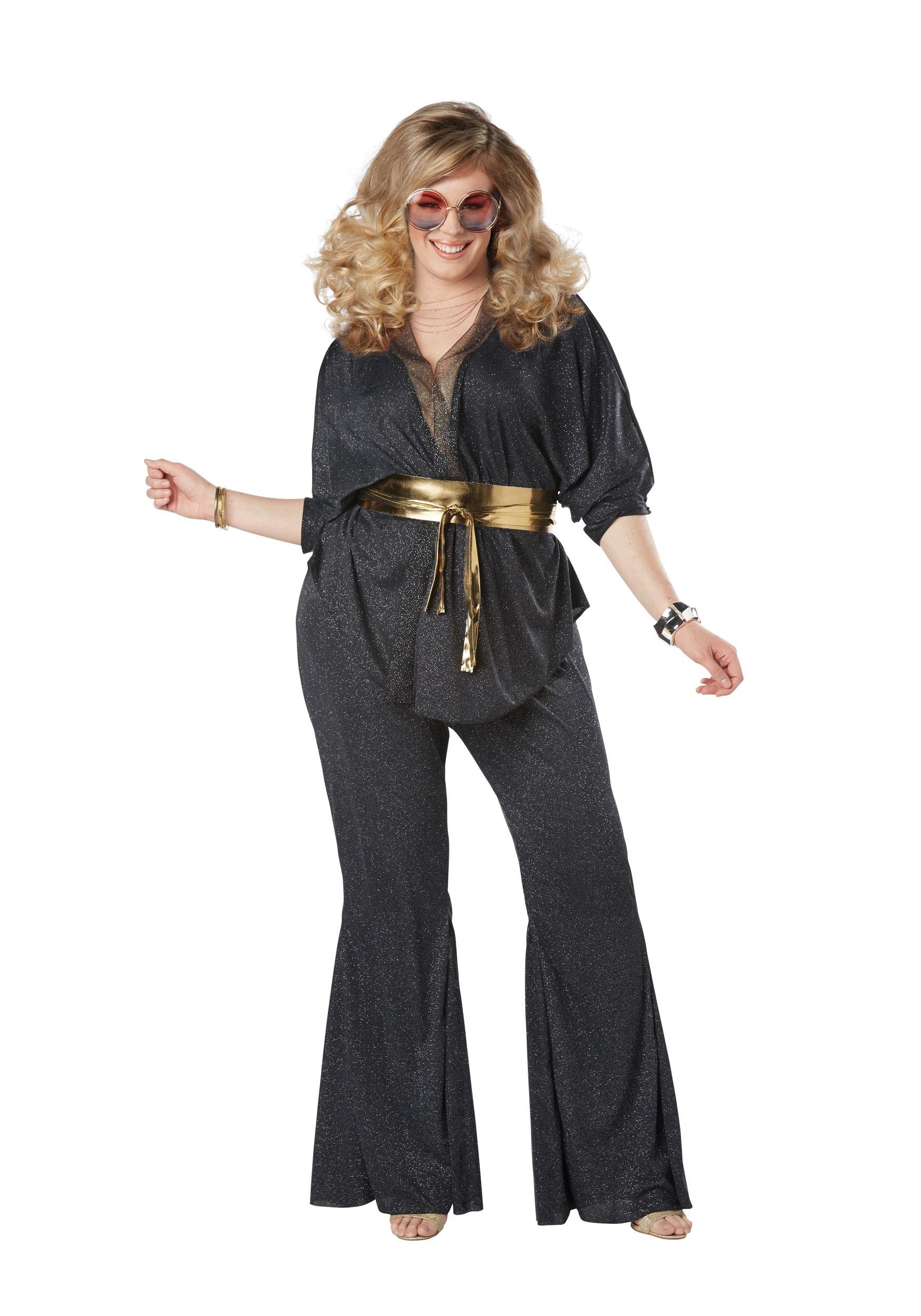 Women's Disco Dazzler Plus Size Costume