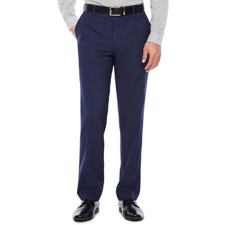 JF J.Ferrar Mens Stretch Super Slim Fit Suit Pants, 40 30, Blue