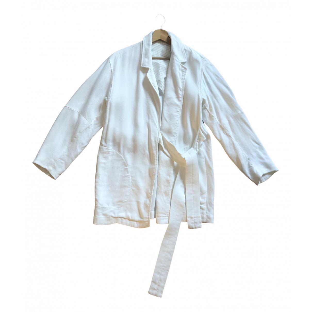 Acne Studios - Veste   pour femme en lin - blanc