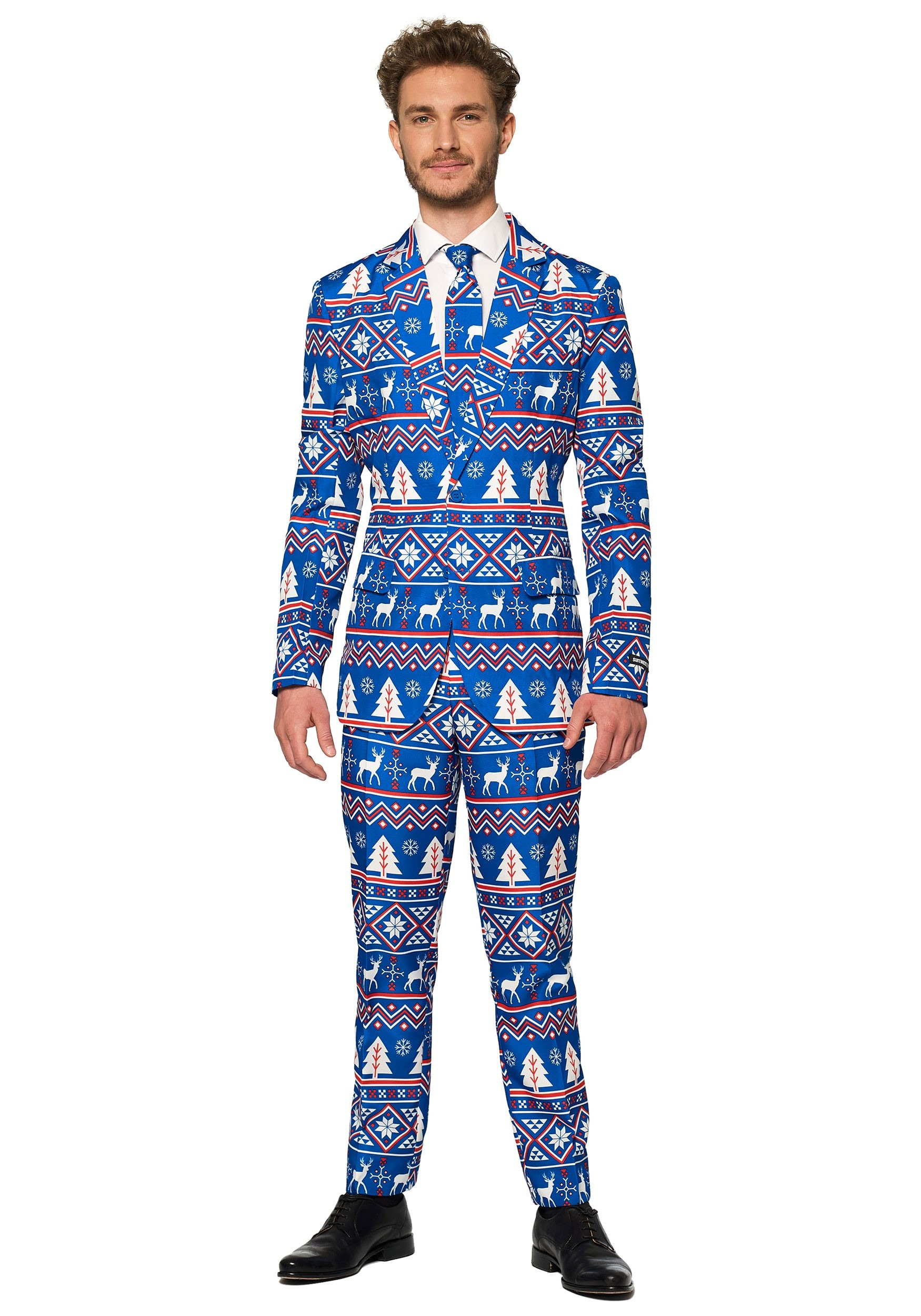 Blue Nordic Christmas Mens Suitmeister Suit