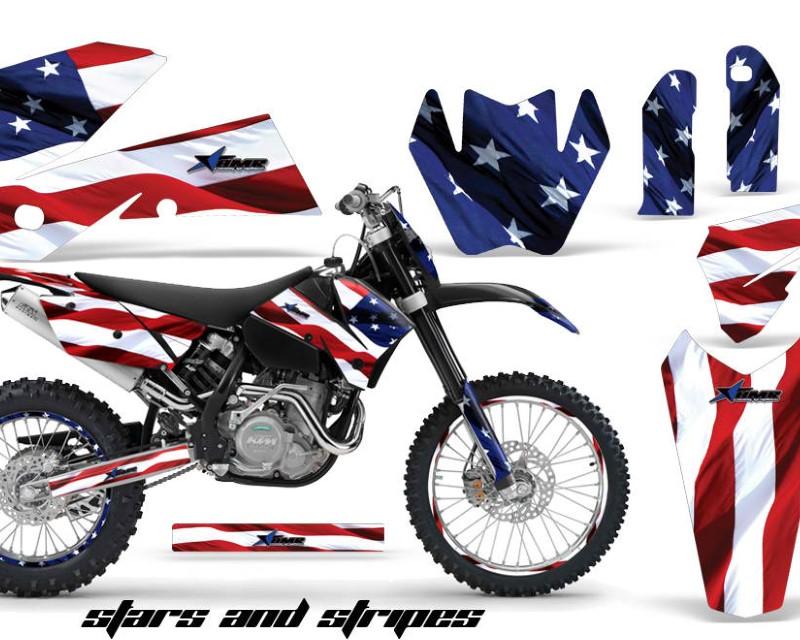 AMR Racing Graphics MX-NP-KTM-C4-05-07-USA Kit Decal Wrap For KTM EXC/SX/MXC?/SMR/XCF-W 2005-2007áUSA FLAG