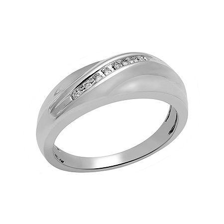 Sterling Silver Mens Ring, 9 , No Color Family