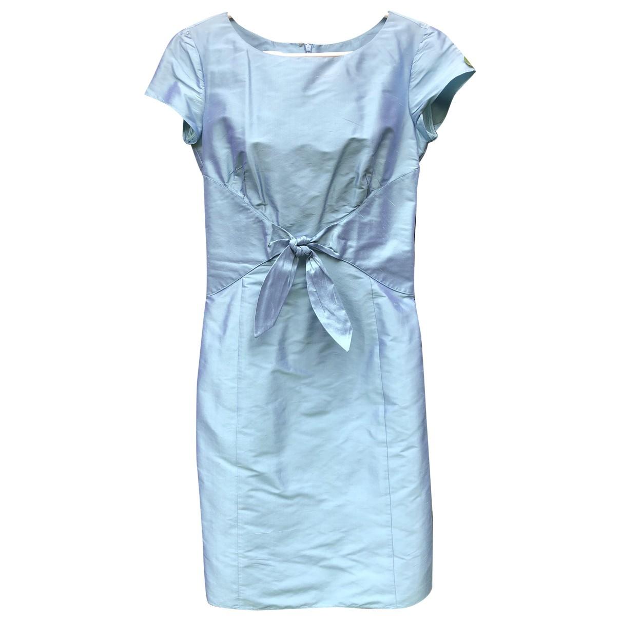 Armani Collezioni - Robe   pour femme en soie - bleu