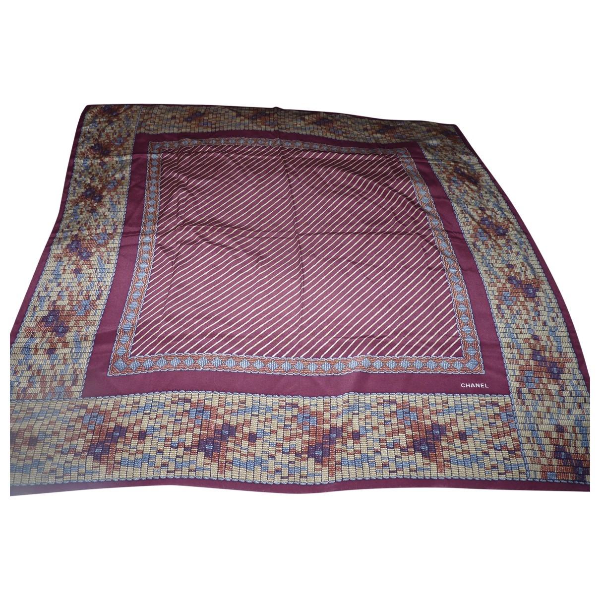 Chanel \N Red Silk Silk handkerchief for Women \N