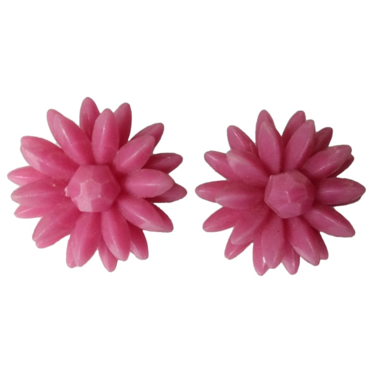 - Boucles doreilles Motifs Floraux pour femme - rose