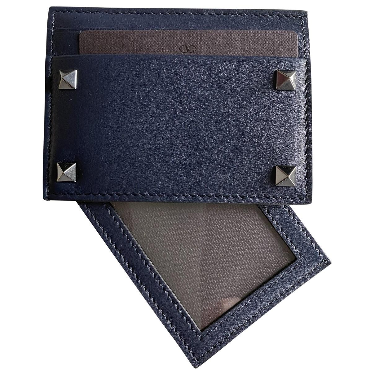 Valentino Garavani - Petite maroquinerie   pour homme en cuir - bleu