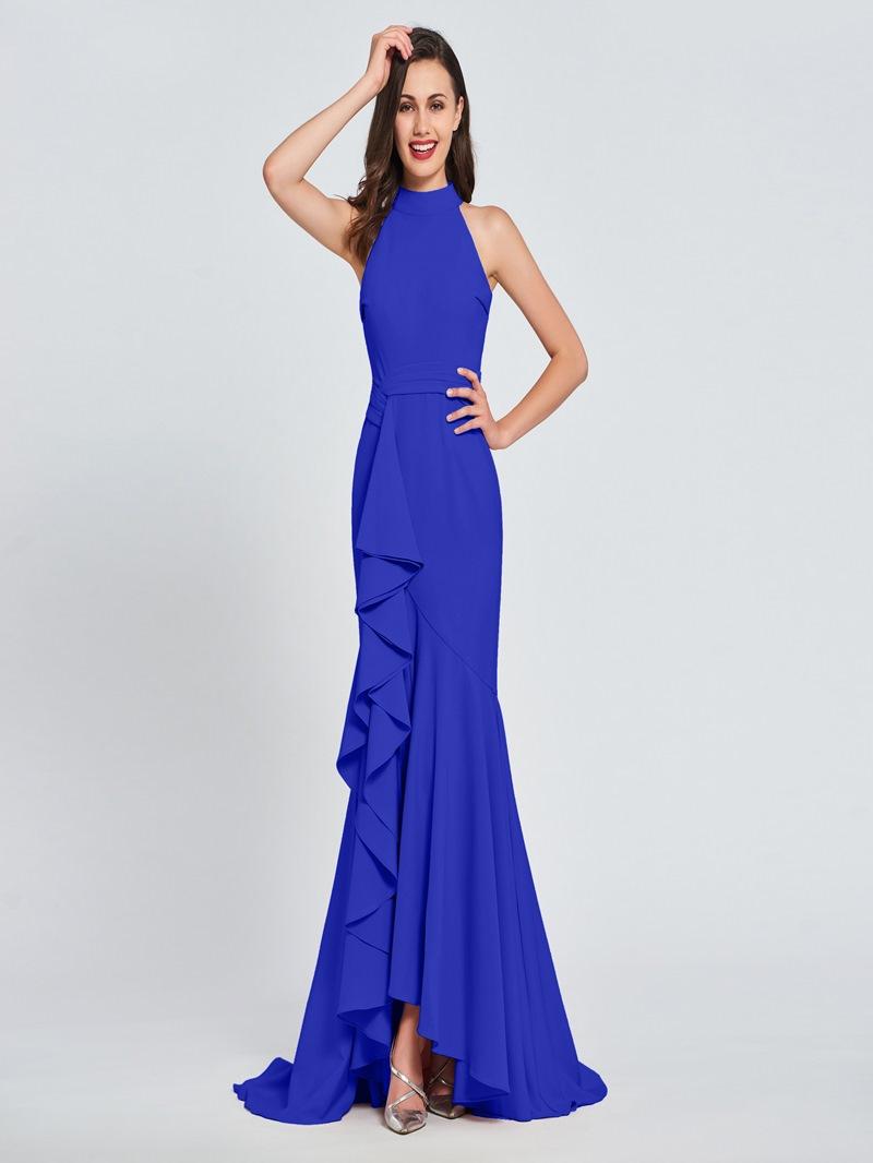 Ericdress High Neck Ruffles Mermaid Prom Dress