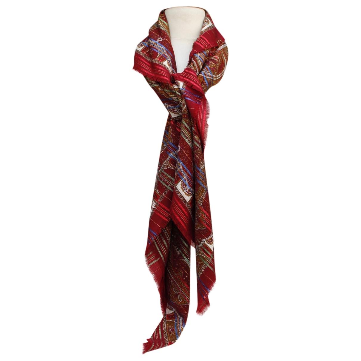Yves Saint Laurent \N Burgundy Wool scarf for Women \N
