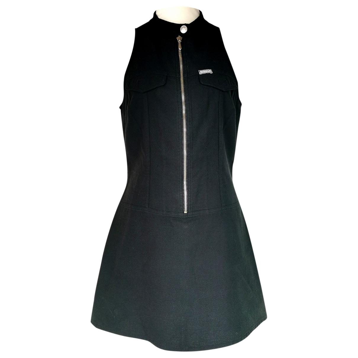 Fendissime - Robe   pour femme en coton - noir