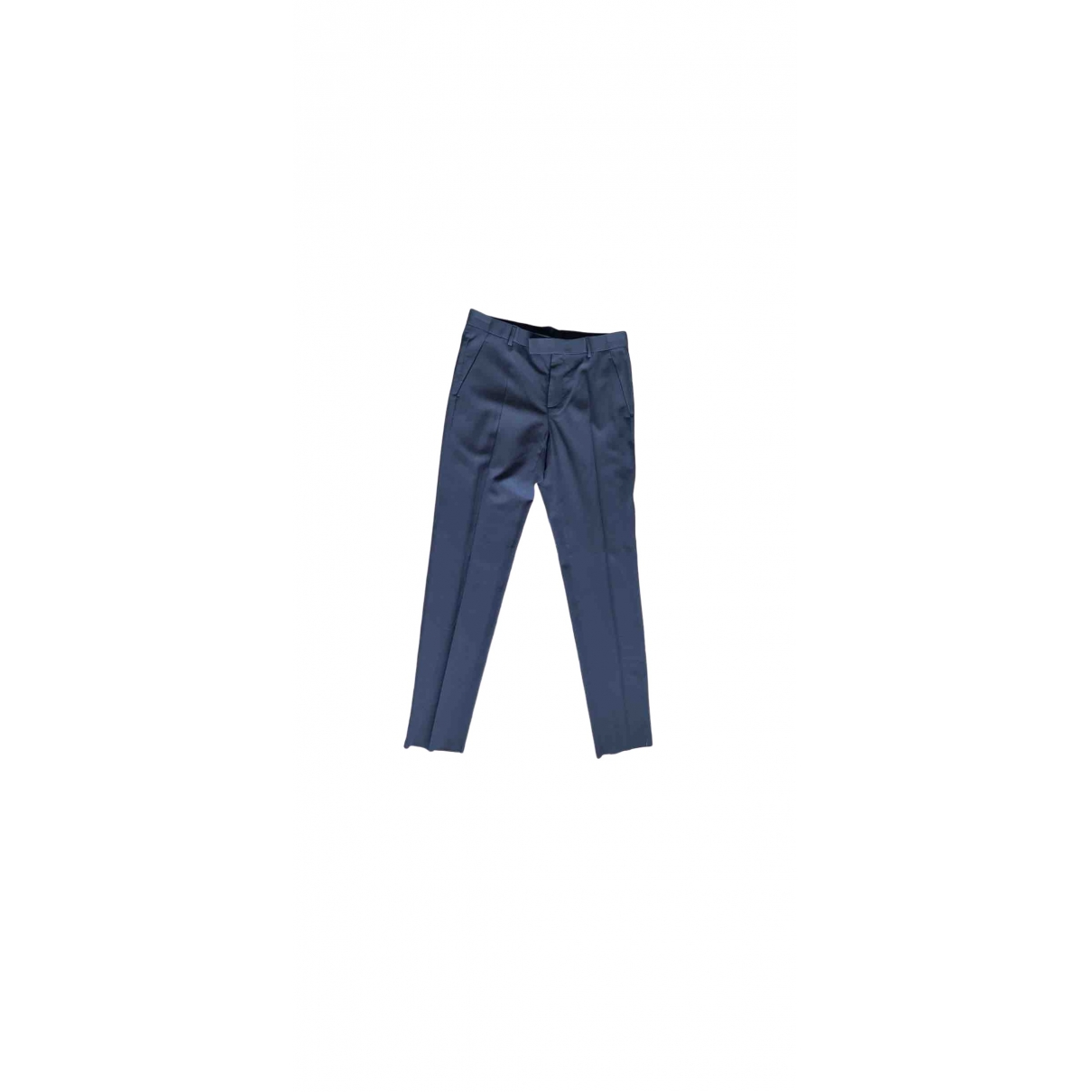 Dior Homme \N Grey Wool Trousers for Men 48 IT