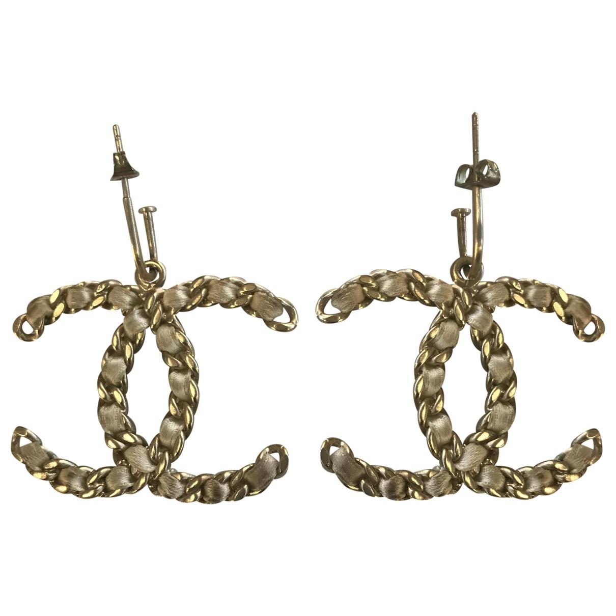 Chanel CC OhrRing in  Metallic Metall