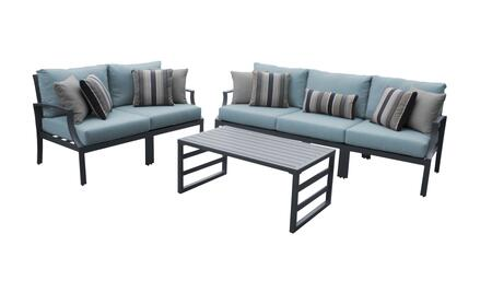 Lexington LEXINGTON-06m-SPA 6-Piece Aluminum Patio Set 06m with 2 Left Arm Chairs  2 Right Arm Chairs  1 Armless Chair and 1 Coffee Table - Ash and