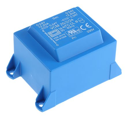 Block 24V ac 2 Output Through Hole PCB Transformer, 25VA
