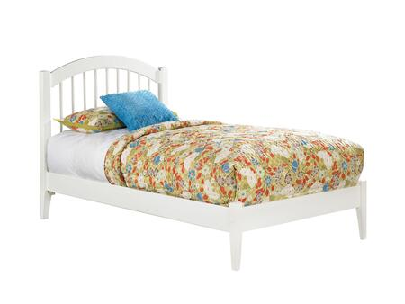 Windsor Collection AP9421002 Twin Size Platform Bed with Open Foot Board  Modern Style  Arch-and-Spindle Design  Hardwood Slat Kit and Eco-Friendly