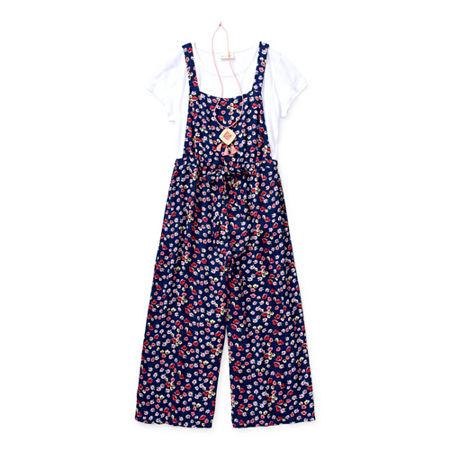 Self Esteem Little & Big Girls 2-pc. Floral Pant Set, X-large (16) , Blue