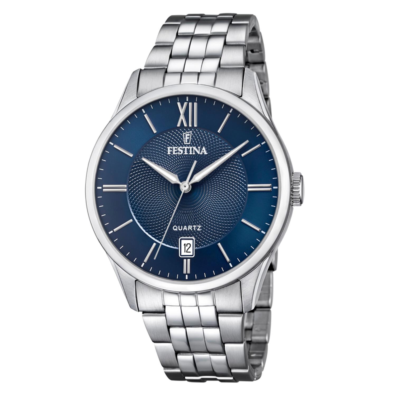 Festina Men's Classics F20425-2F37 Blue Stainless-Steel Quartz Dress Watch