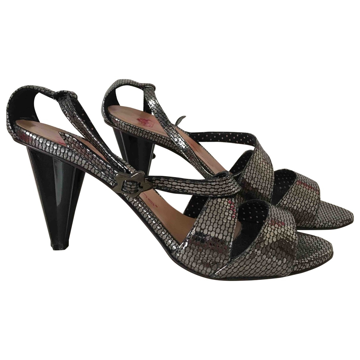 Non Signé / Unsigned \N Metallic Leather Sandals for Women 35 IT