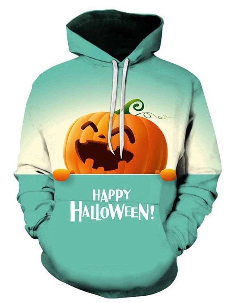 Ericdress Print Pullover Letter Men's Casual Halloween Costume Hoodies