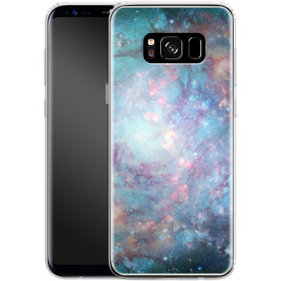 Samsung Galaxy S8 Silikon Handyhuelle - Abstract Galaxy - Blue von Barruf