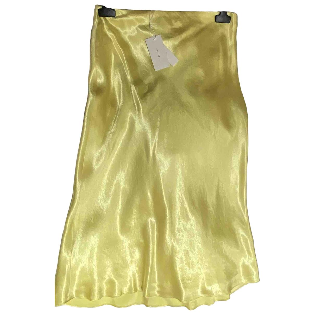 Vince \N Yellow Silk skirt for Women S International