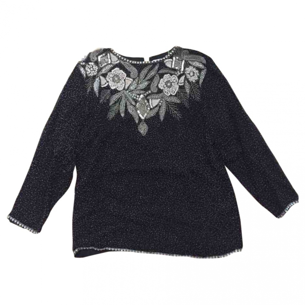 Non Signé / Unsigned \N Black Silk  top for Women M