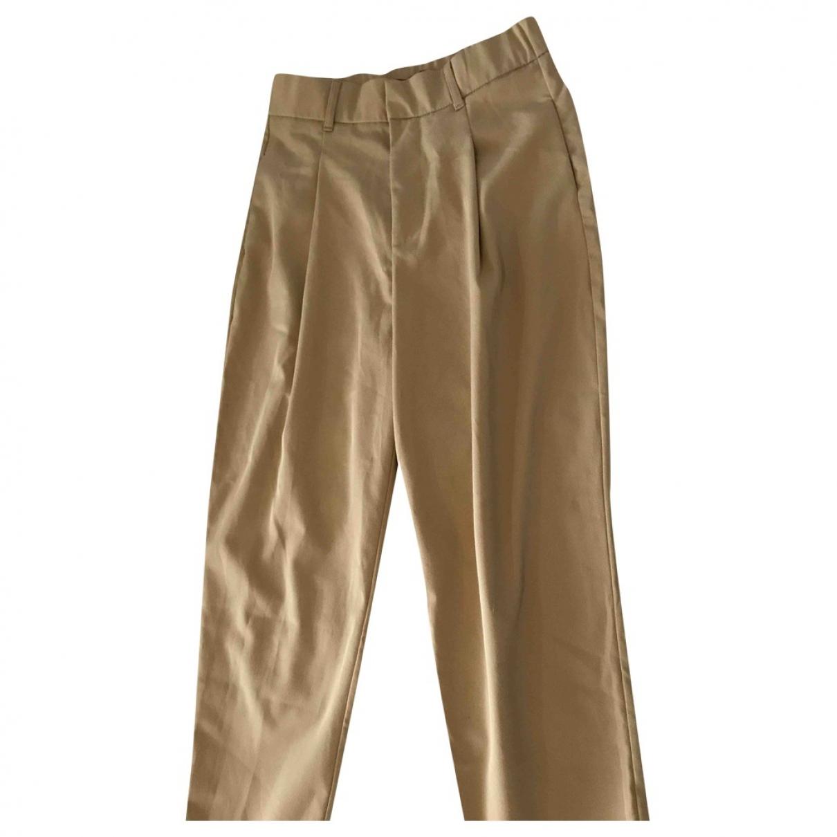 Zara \N Camel Trousers for Women M International
