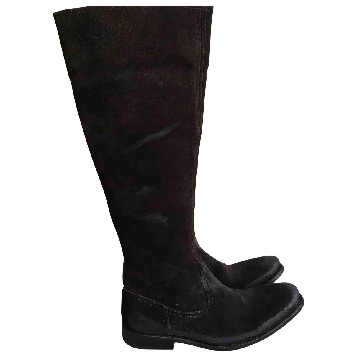 N.d.c. Made By Hand \N Brown Suede Boots for Women 38 EU