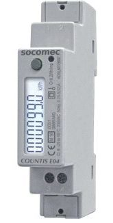 Socomec 1 Phase Digital Power Meter with Pulse Output