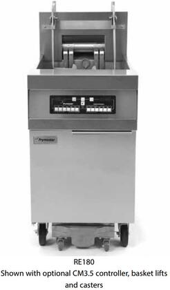 FPRE280208 40 RE80 Series Commercial Electric Fryer with 160 LB Oil Capacity  Open Frypot Design  Digital Controller  17KW Input and Deep Cold Zone