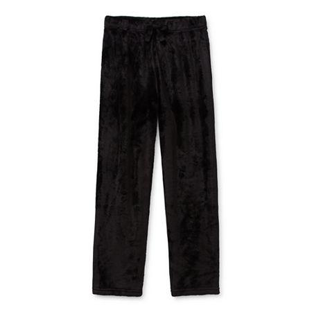 Arizona Holiday Little & Big Boys Fleece Pajama Pants, 8 Husky , Black