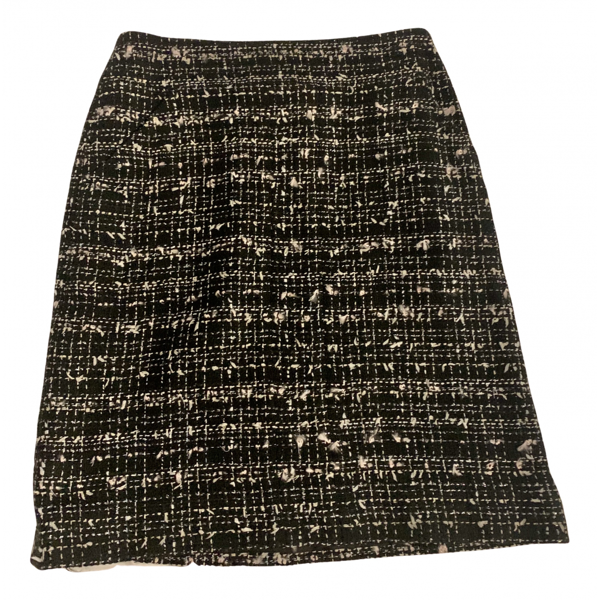 Chanel N Black Tweed skirt for Women 38 FR