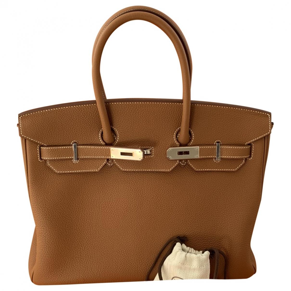 Hermès Birkin 35 Camel Leather handbag for Women \N