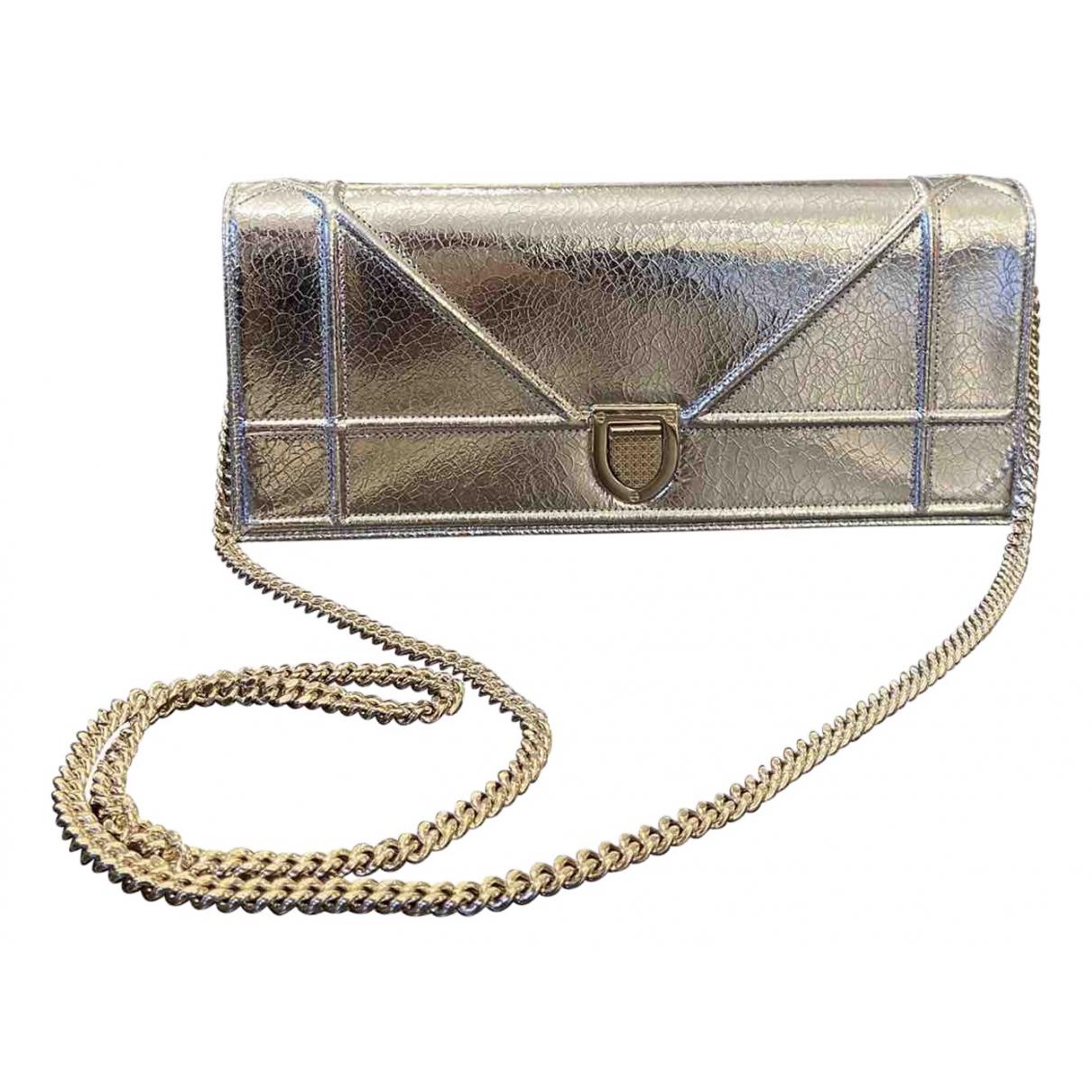 Dior - Pochette Diorama pour femme en cuir - argente