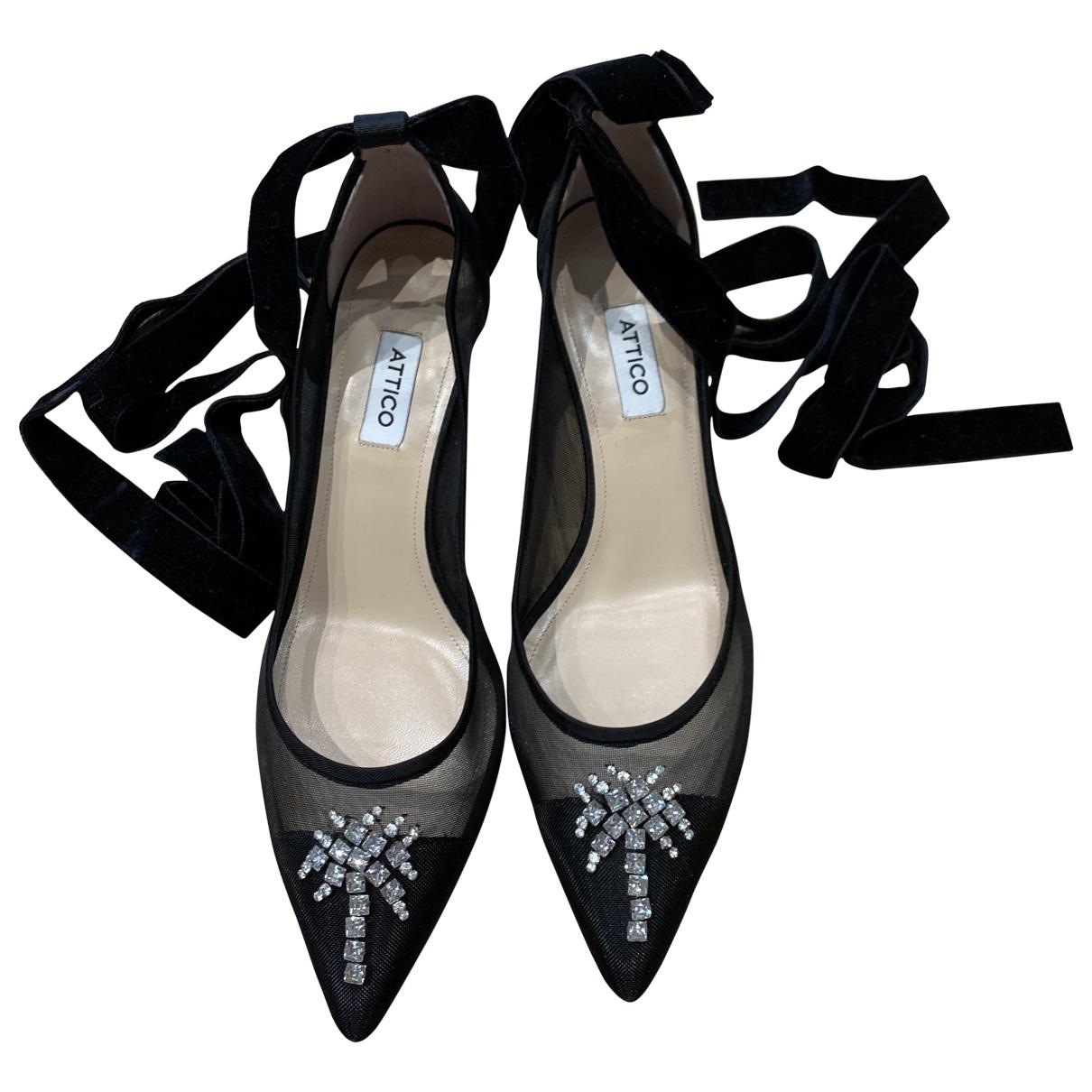 Attico \N Black Cloth Heels for Women 41 EU