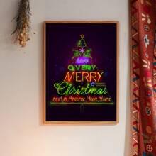 Weihnachten Wandmalerei mit Buchstaben Grafik ohne Rahmen